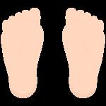 足の裏のイラスト