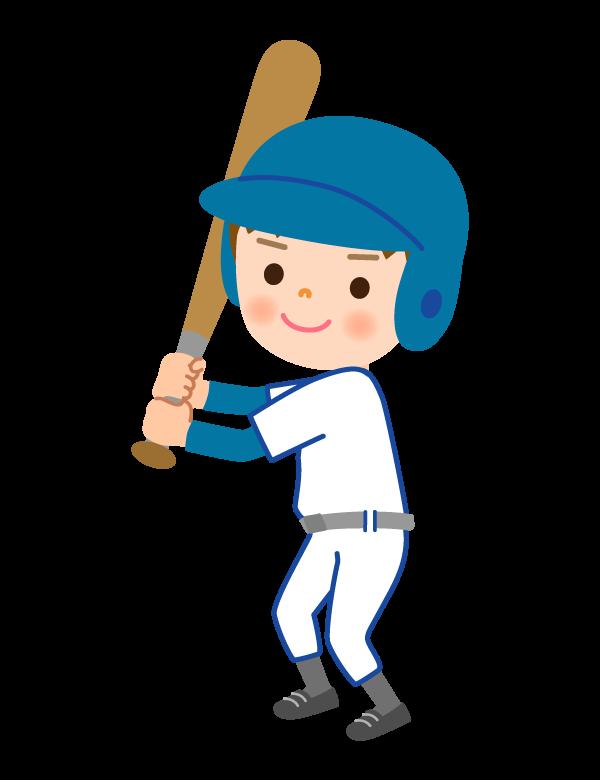 少年野球/バッターのイラスト
