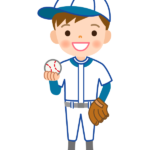少年野球/ピッチャーのイラスト