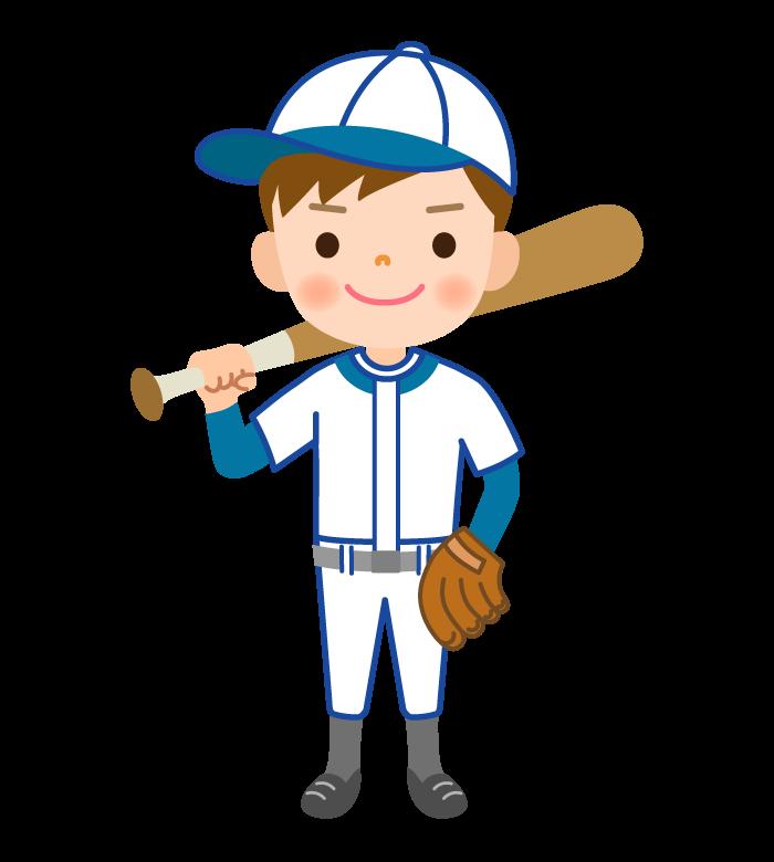 少年野球の男の子のイラスト