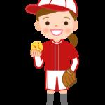野球/ソフトボール/女の子のイラスト