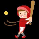 野球/ソフトボール/女の子/ヒットのイラスト