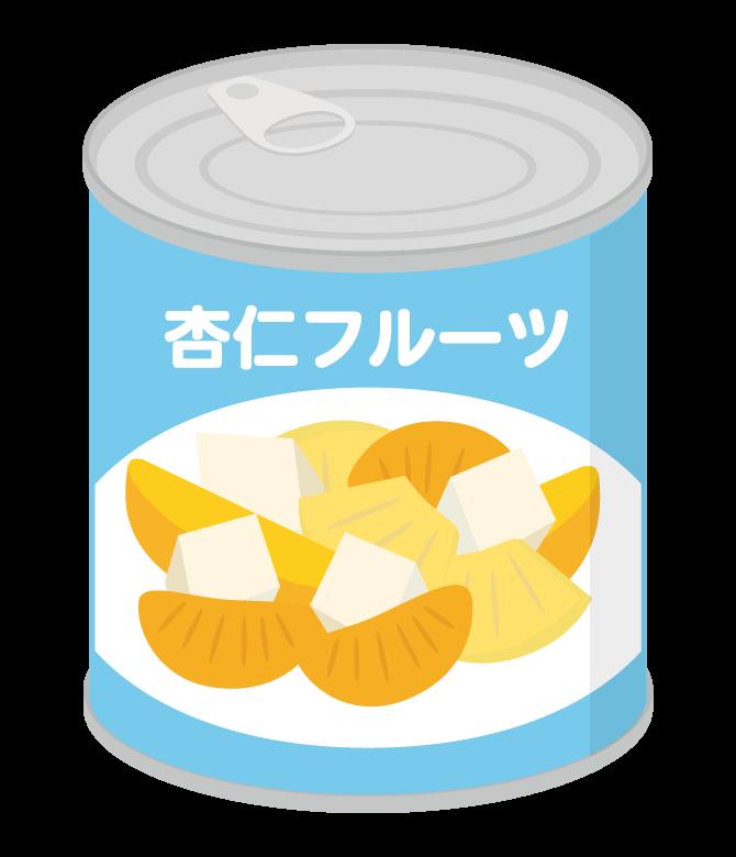 杏仁フルーツの缶詰のイラスト