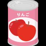 りんごの缶詰のイラスト