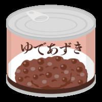 ゆであずきの缶詰のイラスト