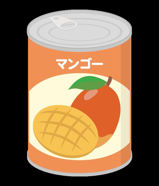 マンゴーの缶詰のイラスト