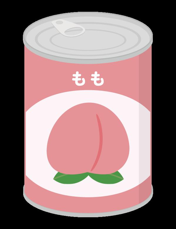 桃の缶詰/桃缶のイラスト