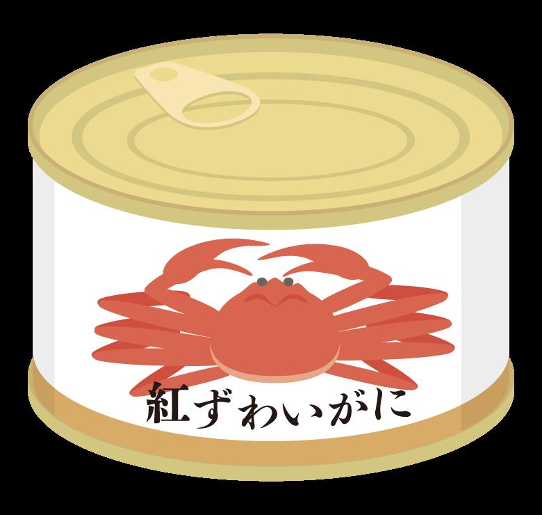 カニの缶詰のイラスト
