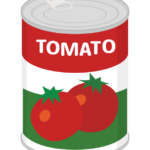 トマトの缶詰のイラスト