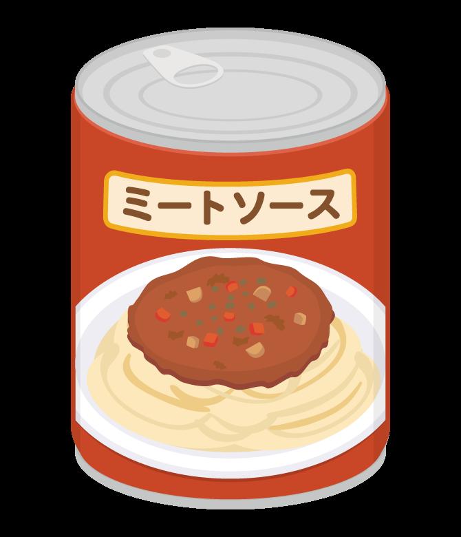 ミートソースの缶詰のイラスト