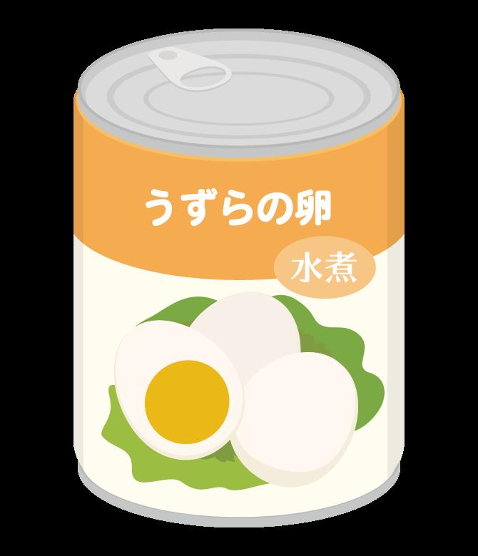 うずらの卵の缶詰のイラスト