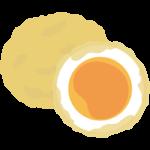 卵の天ぷらのイラスト