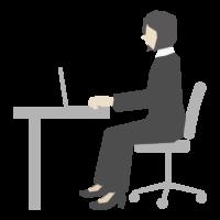 女性会社員/デスクワークのイラスト03