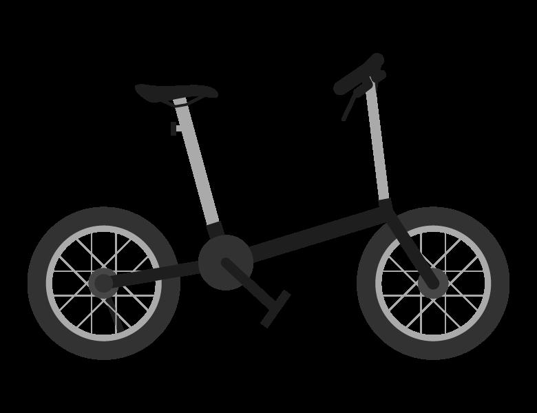 折りたたみ自転車のイラスト