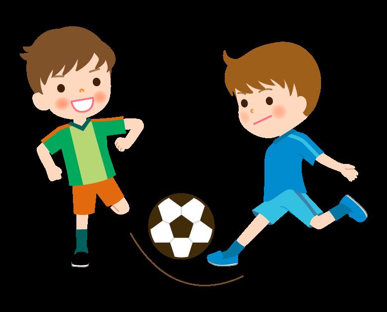 少年サッカー/試合/練習のイラスト