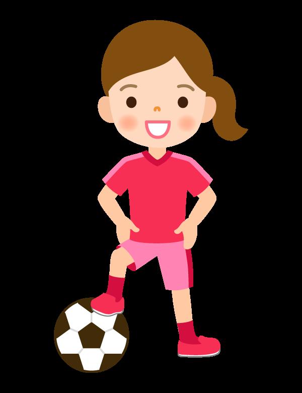 サッカー/女の子のイラスト