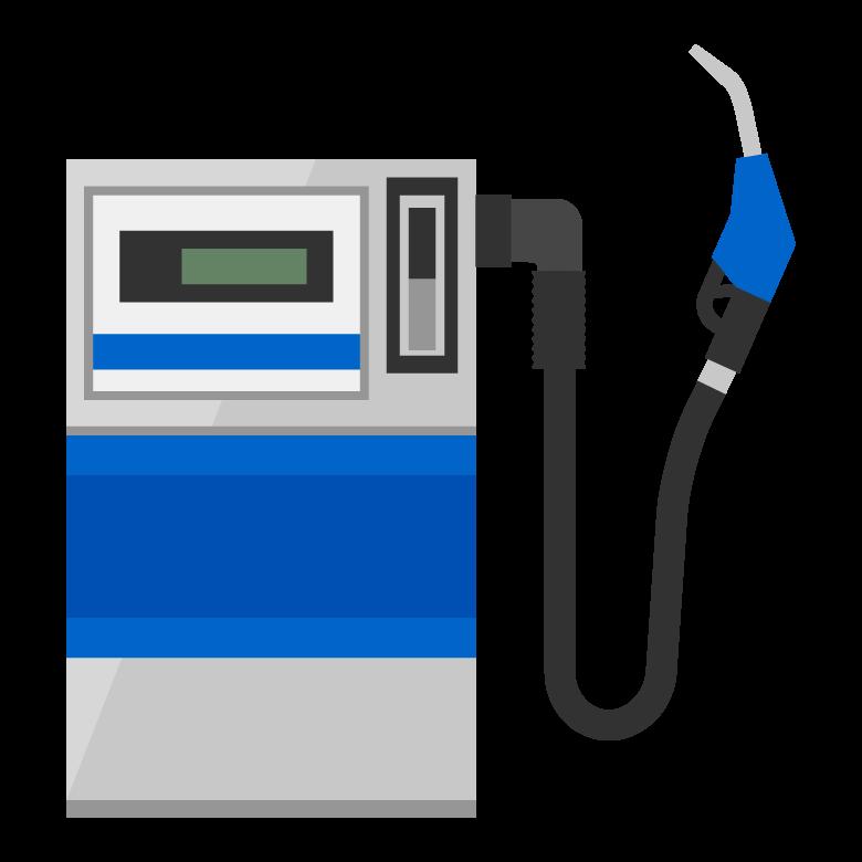 ガソリンの給油機のイラスト