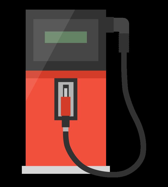 ガソリンの給油機/ガソリンスタンドのイラスト
