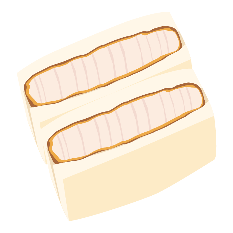 カツサンドのイラスト