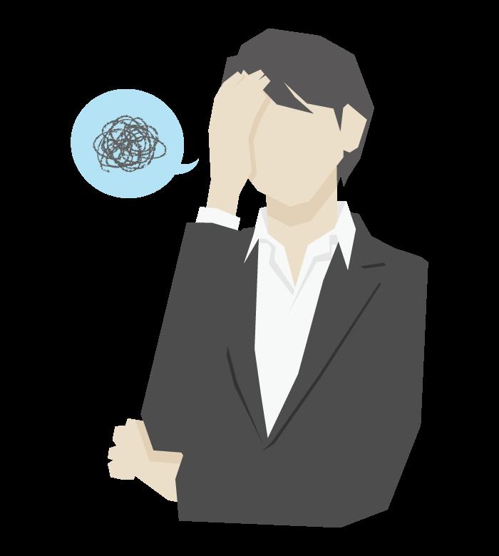 困る/悩み/ストレスの女性会社員のイラスト