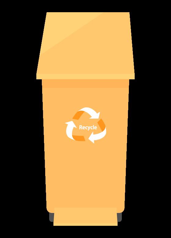 リサイクル用ごみ箱のイラスト02