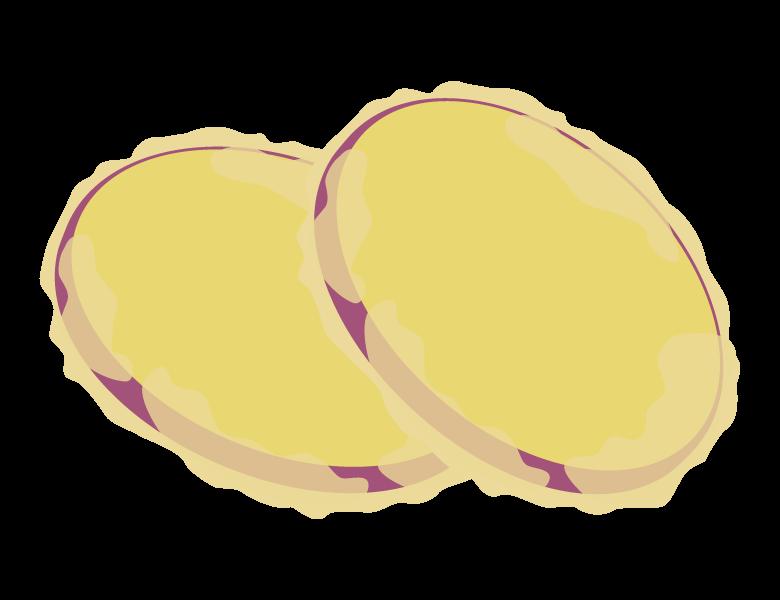 サツマイモの天ぷらのイラスト
