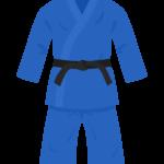青色の柔道着のイラスト