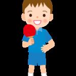 卓球/男の子のイラスト