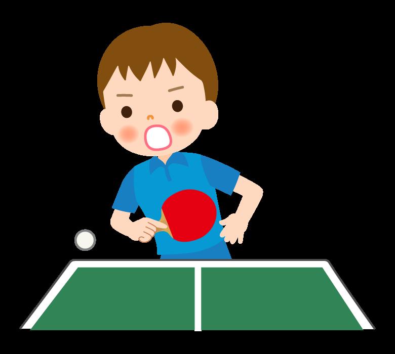 卓球/男の子/練習/試合のイラスト