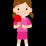 卓球/女の子のイラスト
