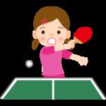 卓球/女の子/練習/試合のイラスト