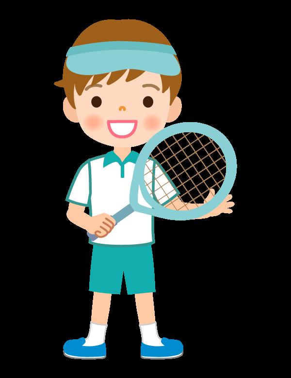 テニス/男の子のイラスト