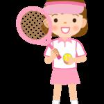 テニス/女の子のイラスト
