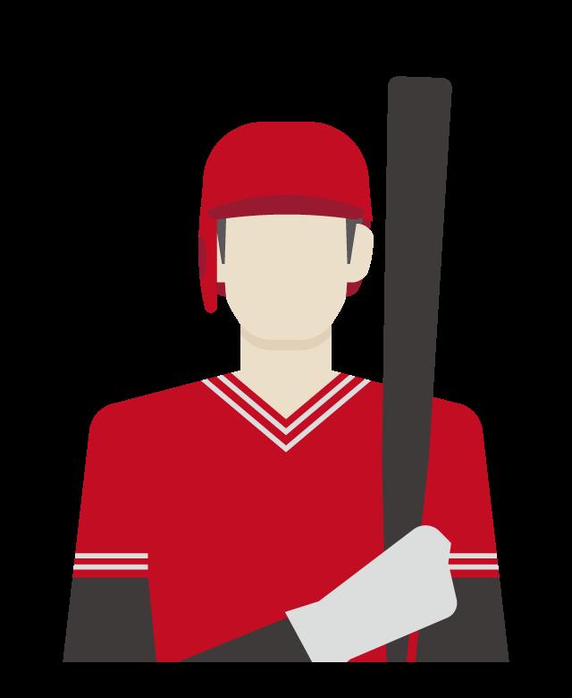 野球選手/バッターのイラスト