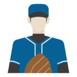 野球選手/ピッチャーのイラスト