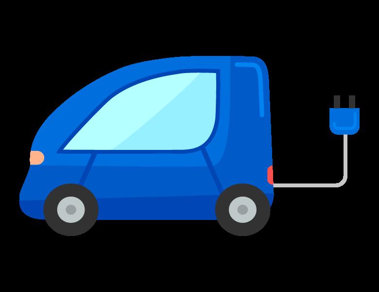 電気自動車のイラスト