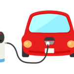 電気自動車の充電のイラスト