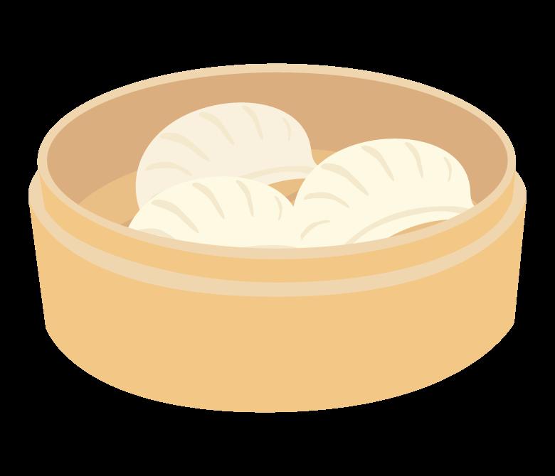 蒸し餃子/ギョーザのイラスト