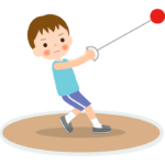 ハンマー投げ/男の子のイラスト