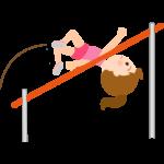 走高跳をする女の子のイラスト