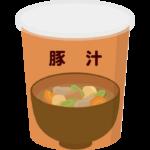 カップの豚汁のイラスト