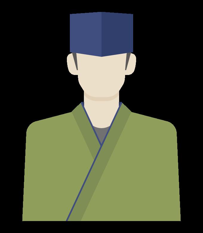 和食の板前/料理人のイラスト