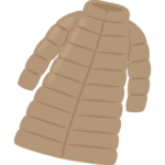 ロングのダウンジャケットのイラスト
