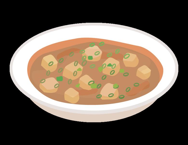 麻婆豆腐のイラスト