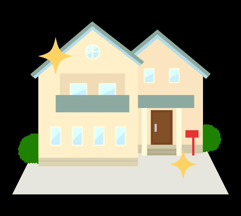 新築の家のイラスト