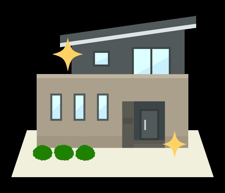 新築/リフォームした家のイラスト