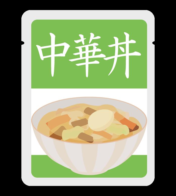 レトルト中華丼のイラスト