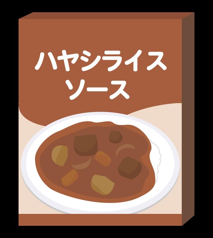 レトルトのハヤシライスソースのイラスト