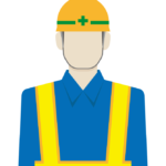 道路工事作業員/警備員のイラスト