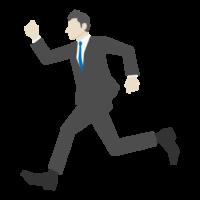 走っている会社員のイラスト